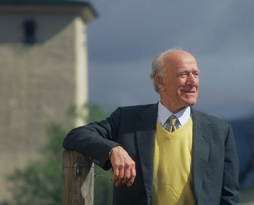 Robert Mondavi at his eponymous estate in Napa Valley